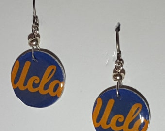 UCLA Bruins earrings, UCLA Bruins jewelry, UCLA Bruins, school spirit jewelry