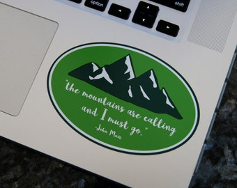 Mountains are Calling Sticker