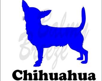 DN - 6 Chihuahua Vinyl Decal