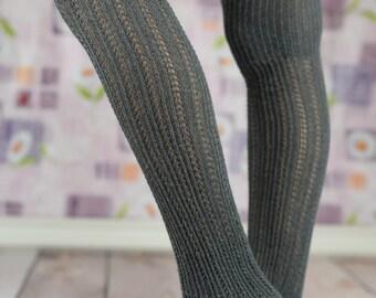 Gray Open-Toe Yoga/Dancers Boot Socks