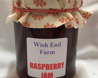 Raspberry Jam, Homemade Jam,  200g (7oz) Jar, Food Gift, Afternoon Tea, Jam Gift, Teacher Gift, Burthday Gift, Hostess Gift