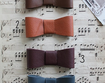 Bow tie, leather, BowTie, ceremony, fashion, 10 cm x 4 cm, single bow, gift for him accessory accessory