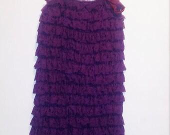 Girls Purple Lacy Romper