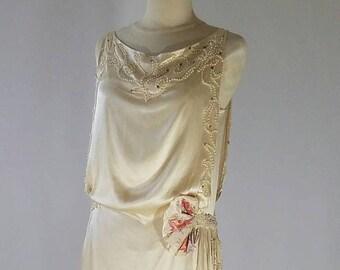 1930's Silk Wedding Gown San Francisco Designer Label