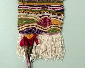 Woven Wall Hanging - Gift for You - Tapestry Wall Hanging - Gift for Her - Boho Decor - Jewel tones