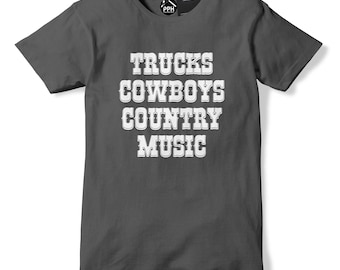 Trucks Cowboys Country Music T Shirt Western T Shirt Southern Girl Boys top Texas T Shirt 571