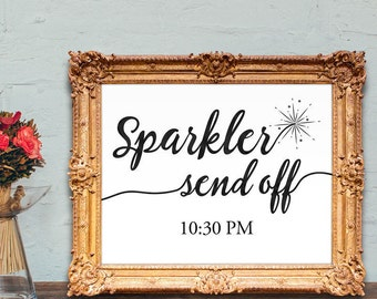Wedding sparkler send off sign - wedding send off sign - sparkler sign - PRINTABLE - 8x10 - 5x7