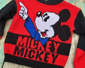 Mickey Mouse vintage sweater, kids size 6