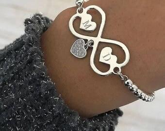 FOREVER silver custom engrave bracelet