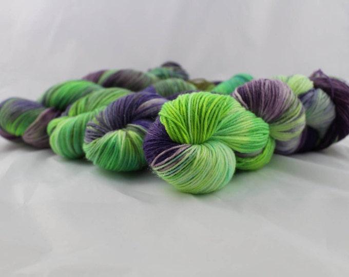 Giggling Grapes - Fingering Weight - Sock Yarn - Sharon Base - 70/25/5 Merino Nylon Stellina - 463 Yards/100 Grams