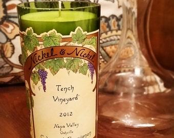 Wine Bottle Candle - Nickel & Nickel - Tench Vineyard (Oakville) - Cabernet Sauvignon - 2012 Vintage - Single Vineyard Wine