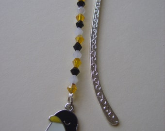 Penguin beaded bookmark, Penguin  bookmark