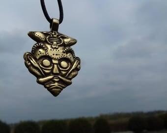 The mask of Loki, Mask of Odin,mask of Loki, loki pendant, Scandinavian Amulet, Nordic, slavic jewelry, Viking Jewelry, Borre, Asatru, Pagan