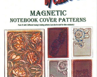Sheridan Style Magnetic Notebook Cover Patterns #2 by Chan Geer (Leather Designs) [DIGITAL DOWNLOAD]