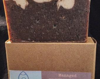 Managed Coffee & Cream Exfoliating Bar Soap