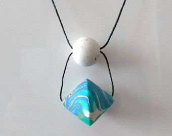 OOAK Beach Party Handmade Polymer Clay Necklace