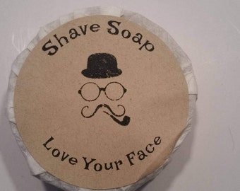 Shave SOAP FREE SHIPPING/ Handmade by My Soapy Habit/ Classic Barbar Shop Scent/ Thick Rich Lather/ Love Your Face