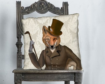 Fox cushion cover Fox Decor Fox Pillow Cover fox throw pillow Fox Gift - Bounder - Woodland Animal print Woodland pillow Woodland décor