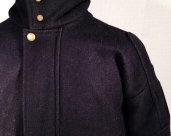 1980's/ Peter J. /vintage bomber jacket/ wool jacket/ 80's jacket/ vintage jacket/ men's vintage/bomber jackets/mens jackets/black jacket
