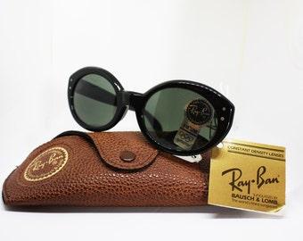 Vintage sunglasses B&L Ray Ban w0956  cat eye II Olympic Albertville gray lenses G15  olympic series sunglasses ray ban, Nos 90s