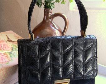 70erJahre snake - handbag
