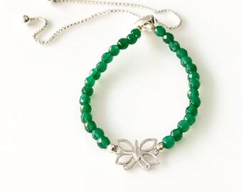 Butterfly Bracelet -Love Bracelet -Friendship Bracelet -Silver Bracelet -Adjustable Bracelet -Delicate Bracelet -Handmade Bracelet -UK shop