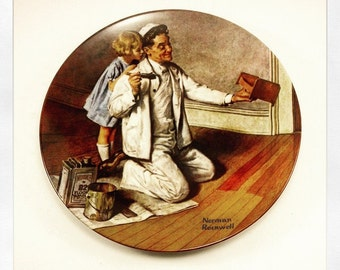 Norman Rockwell Collector plate The Painter by E.M. Knowles china co virginia usa 1983 Limited edition Rockwell heritage collection