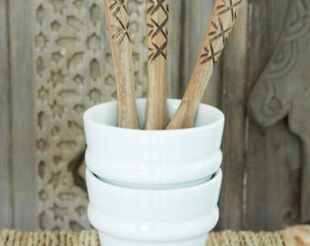 Set of two Moroccan Coffee Cups 'Beldi' - White