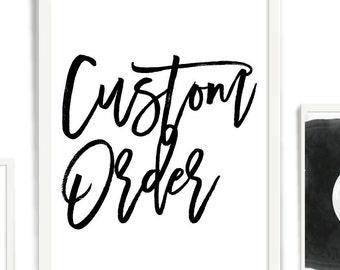 Custom Printable, typography