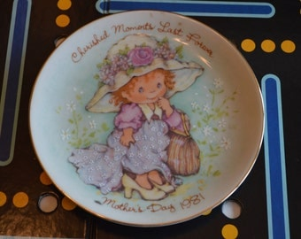 1981 AVON Mother's Day Plate Cherished Moments Last Forever