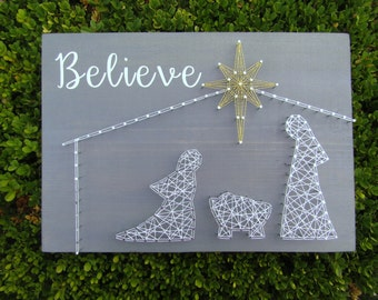 Believe #2 Nativity String Art *Made-to-Order*