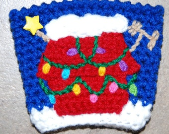 Snoopy's Christmas Dog House Cup Cozy