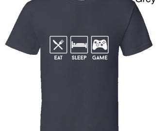 Eat Sleep Game Gaming T-Shirt, gamers tee, cool gaming gear, funny gaming t-shirt, video game clothing,