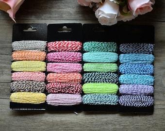 6 rocchette di baker's twine 7.5 m cotton thread