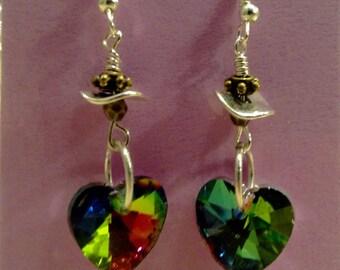 Swarovski Crystal Heart Earrings