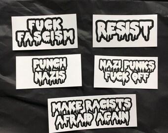 Anti-Fascist Sticker Pack