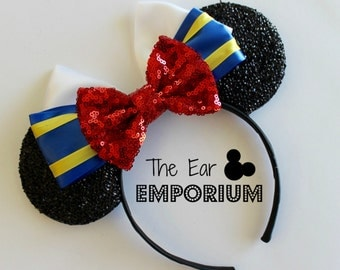 Donald Duck Mouse Ears Headband ~ Blue, Yellow and Red