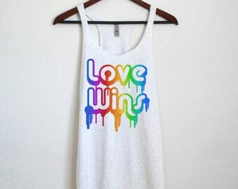 Love Wins - LGBT Pride Tank Top Gay Pride Shirt