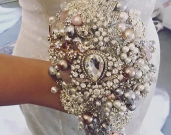 Crystal Bridal Brooch Bouquet