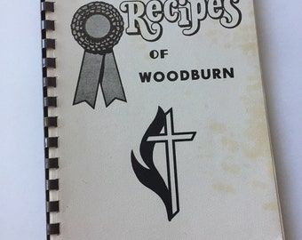 Women's Cookbook - Prize Recipes of Woodburn - Vintage Cookbook - 1980s Cookbook - Woodburn Oregon - Recipe Collection - Restaurant Recipes