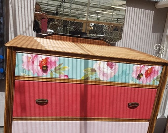 Wooden Dresser Vintage shabby chic upcycled