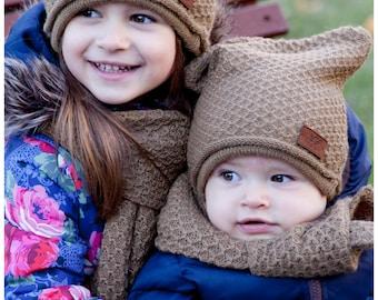 Alpaca wool set for kids/ alpaca scarf / alpaca hat / alpaca cap/ knitted alpaca scarf/ kids scarf/ kids cap/ knitted alpaca cap/ baby cap