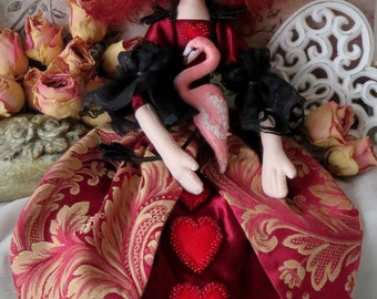 Queen of Hearts soft doll + Flamingo