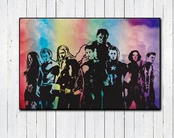 The Avengers, Age Of Ultron, 11x17 Print, Color Print, Superhero Prints, Marvel Comics, Marvel Movies, Iron Man, Captian America Civil War