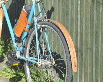 Oak Rear Mudguard - handmade from Reclaimed wood