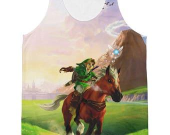 The Legend of Zelda: Ocarina of Time Link Epona Sublimated Tank Top