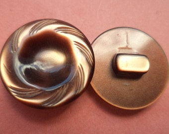 10 Brown BUTTONS 18mm (306) button