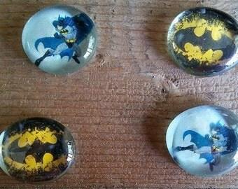 Batman and Robin Magnets - Batman Magnet - Robin Magnet - Super Hero Magnets - Cartoon Magnets - Birthdya Gift