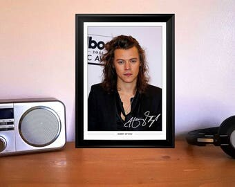 Harry Styles One Direction Autographed Signed Photo Print