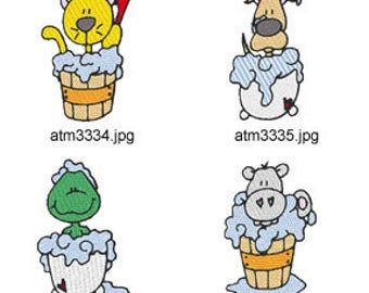 Bath-Time-Critters  ( 6 Machine Embroidery Designs from ATW ) XYZ17C
